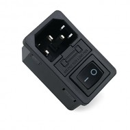 Fused IEC 320 C14 Inlet Power socket 10A 220V with Rocker Switch