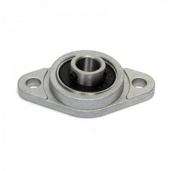 KFL08 8mm Dia Bore Aluminum Alloy Self- Aligning Flange Bearing Oval Pillow Block