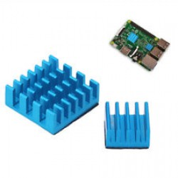 Blue Aluminum Heat Sink Set: 1pcs 14*14*7mm 1pcs 9*9*5mm