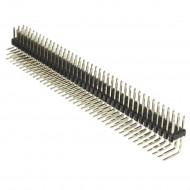 2x40pin bend Pin Header 2.54mm Breakable(1pcs)
