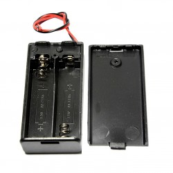 2 x AA Battery Holder Box, With Cover/on-off