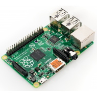 Raspberry Pi 2 Model B  (Quad Core CPU 900 MHz, 1 GB RAM, Linux)