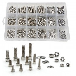 240pcs/Box 304 stainless steel inner hexagon screw round head inside hexagon DIN912