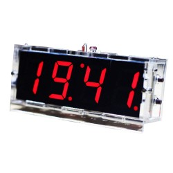 DIY Kit Red LED Electronic Microcontroller Digital Clock Time Thermometer With Talking Clock