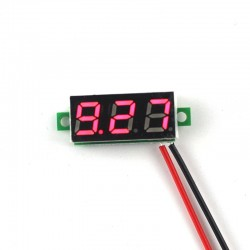 0.28inch 3.5-30V Two Wire DC Voltmeter Red