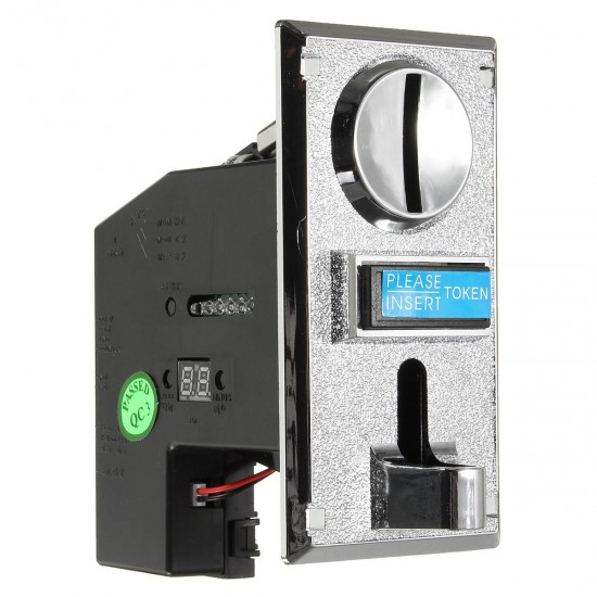 Electronic Roll Down Coin Acceptor Selector Mechanism Vending Machine