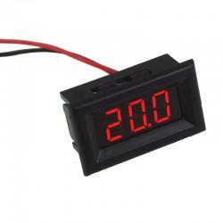 Mini voltmeter tester Digital voltage test battery DC 0-100V red THREE WIRES