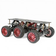6WD Metal Robot Cross-country Chassis DIY Platform for Arduino robot WIFI Car Off-road Climbing