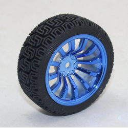 65mm Robot Smart Car 12 Rim Wheel Blue