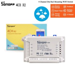 Sonoff 4CH R2 4 Channels Smart Switch Support Google/Smart Home Automation 10A