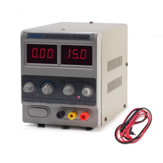 1502DD 15V 2A AC to DC Regulated Power Supply Adjustable Current