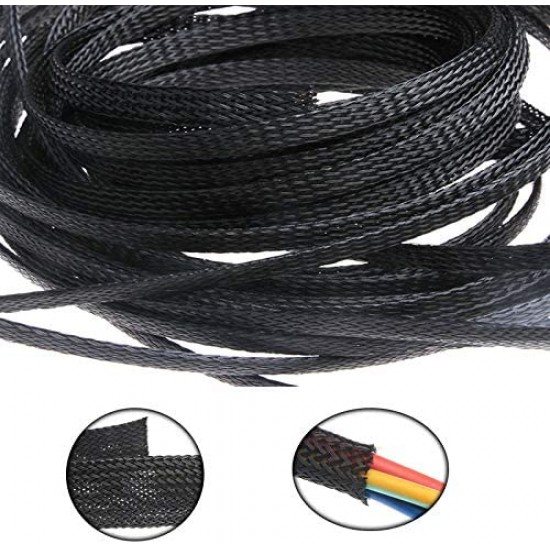 8mm Nylon Woven Network Cable Manager(1meter)