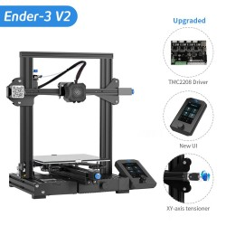 CREALITY  Ender-3 V2  3D printer With silent TMC2208 Stepper Drivers & 4.3 Inch Color LCD