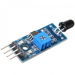 4PIN IR Infrared Flame Detection Sensor Module   حساس اللهب / النار