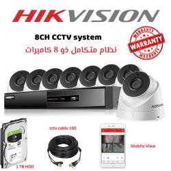 8CH HIKVISION indoor  CCTV Full kit