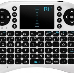 Wireless White Keyboard Remote Control with touch pad Rii mini i8