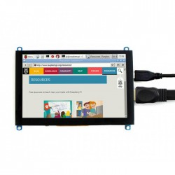 5 Inch LCD Module Resistive Touchscreen Adapting to HDMI Interface 800*480 Resolution for PI4