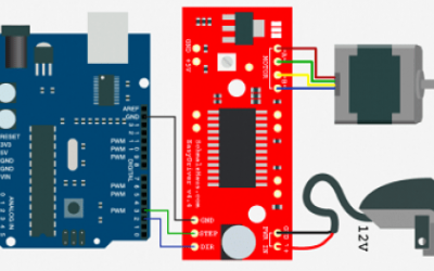 Control Stepper Motor(NEMA17) by EasyDriver with Arduino