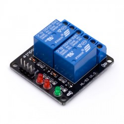 2 Channel Low Level Relay Module without light coupling 5V
